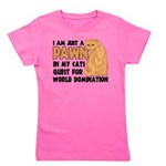 Cat's World Domination Girl's Tee