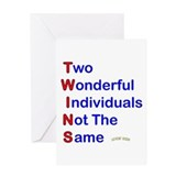 Funny twins Greeting Cards