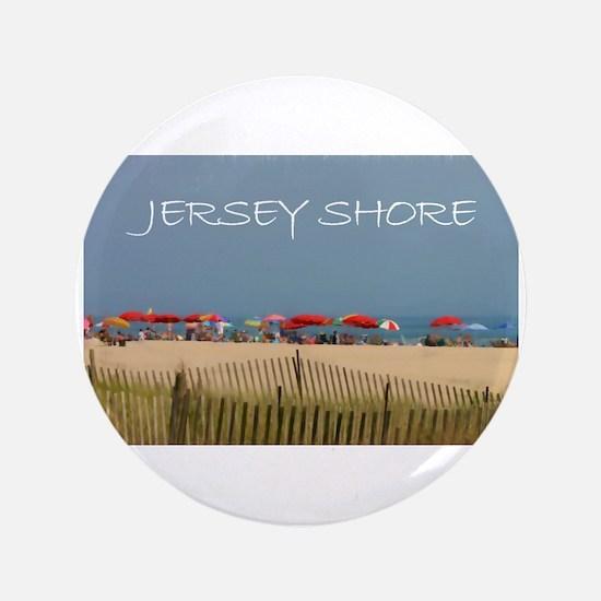 Jersey Shore Beach Umbrellas Button