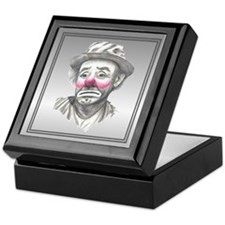 Sad Male Clown Face Keepsake Box