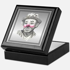 Sad Male Clown Face Keepsake Box