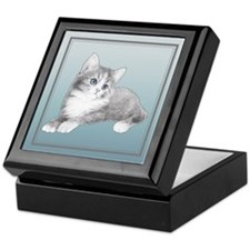 Grey Kitten Keepsake Box