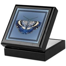 Blue Butterfly 2 Keepsake Box