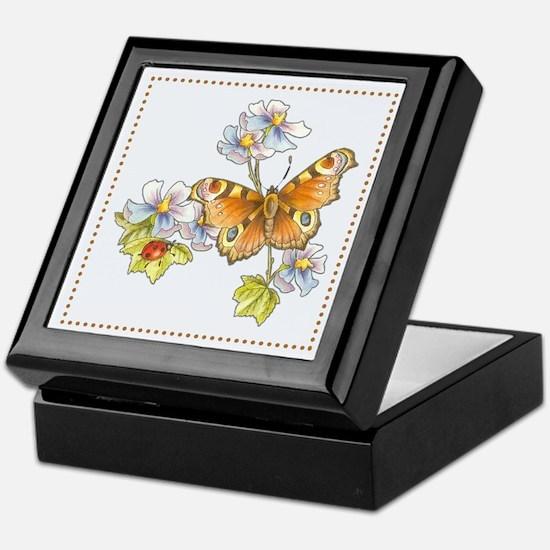 Butterfly and Ladybug Keepsake Box