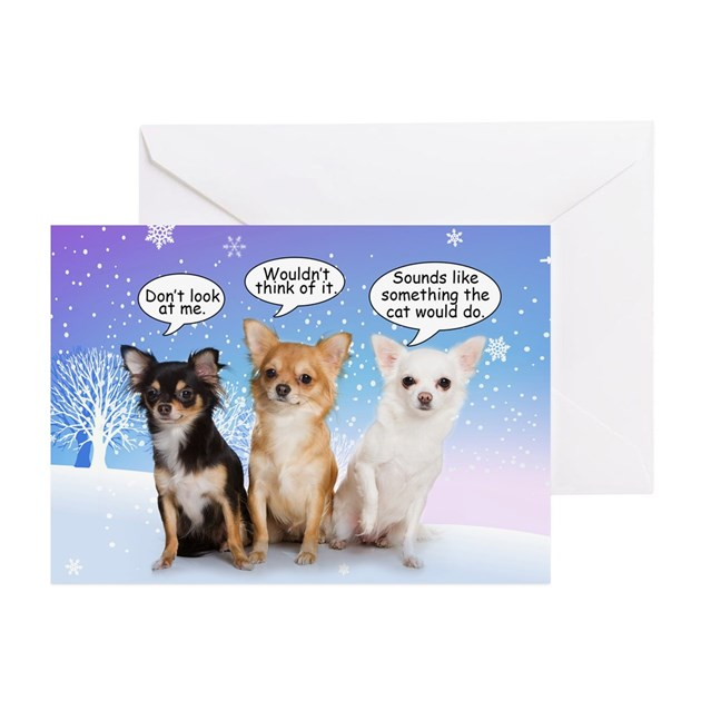 Funny Chihuahua Christmas Cards Pk Of 10 By Shopdoggifts