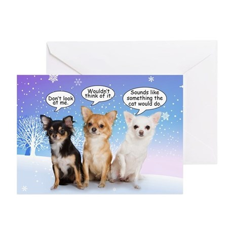 Funny Chihuahua Christmas Cards (Pk of 20