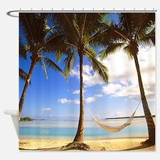 Island Time Beach Paradise Shower Curtain