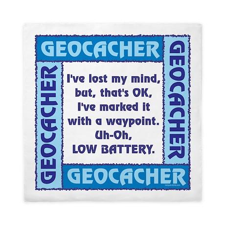 Blue Geocacher Lost Mind Queen Duvet