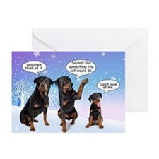 Funny Rottie Christmas Cards (Pk of 10)