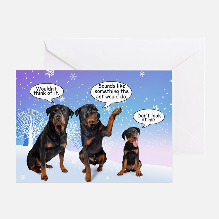 Funny Rottie Christmas Card