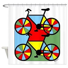 Colorful Bikes Shower Curtain