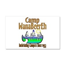 Camp WanaBeerEh Car Magnet 20 x 12