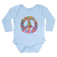 Peace Long Sleeve Infant Bodysuit