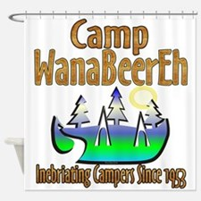 Camp WanaBeerEh Shower Curtain