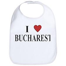 I Love Bucharest Bib
