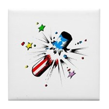 4th of July Firecracker Tile Coaster