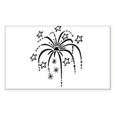 4th of July Fireworks Decal