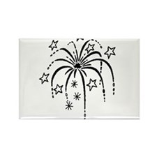 4th of July Fireworks Rectangle Magnet