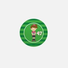 Soccer Sports Number 47 Mini Button