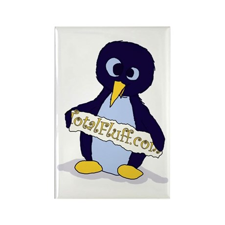 Deranged Penguin with a Sign Rectangle Magnet