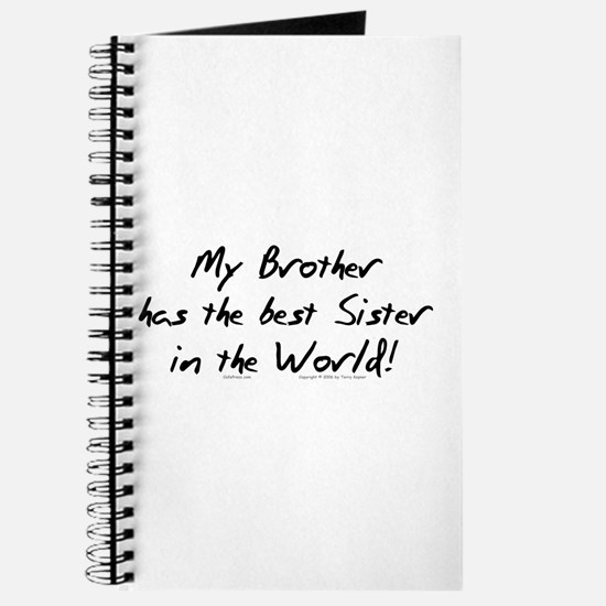 My Brother, Best Sister Journal