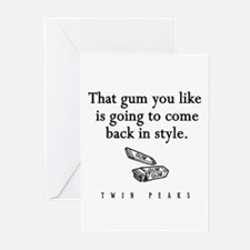 That Gum You Like Twin Peaks Quote Greeting Cards