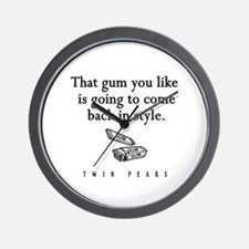 That Gum You Like Twin Peaks Quote Wall Clock