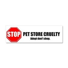 Stop Pet Store Cruelty Car Magnet