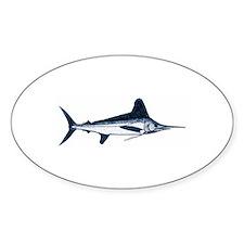 White Marlin Logo Decal