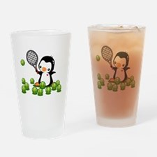 Tennis Penguin Drinking Glass