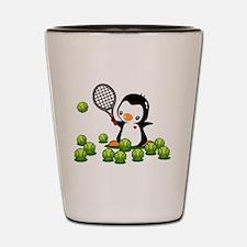 Tennis Penguin Shot Glass