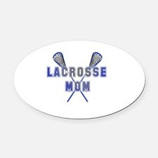 Lacrosse Mom Oval Car Magnet