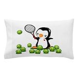 Tennis penguin Pillow Cases