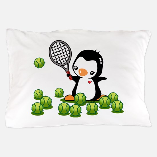 Tennis Penguin Pillow Case