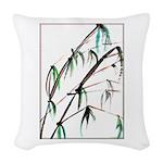 Bamboo Woven Throw Pillow