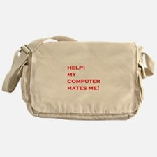 help computer hates me Messenger Bag
