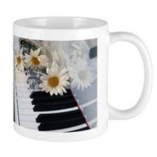 Piano and Daisies Mug