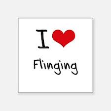 I Love Flinging Sticker