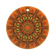Harmony in Orange Ornament (Round)