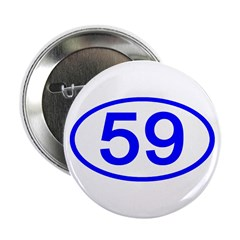 Number 59 Oval Button