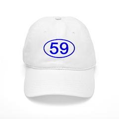 Number 59 Oval Baseball Cap