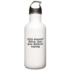 Jelly Donuts? Twin Peaks Quote Water Bottle
