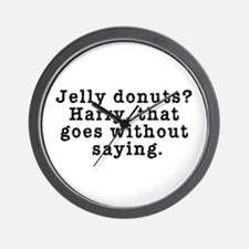 Jelly Donuts? Twin Peaks Quote Wall Clock
