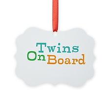 Twins On Board Ornament