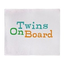 Twins On Board Throw Blanket