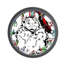 Unique 12 days of christmas Wall Clock