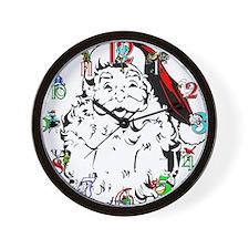 Cute 12 days christmas Wall Clock