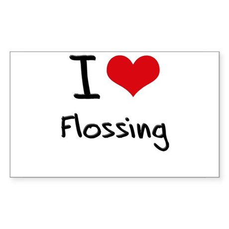 I Love Flossing Sticker