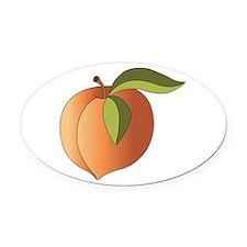 Peach Oval Car Magnet