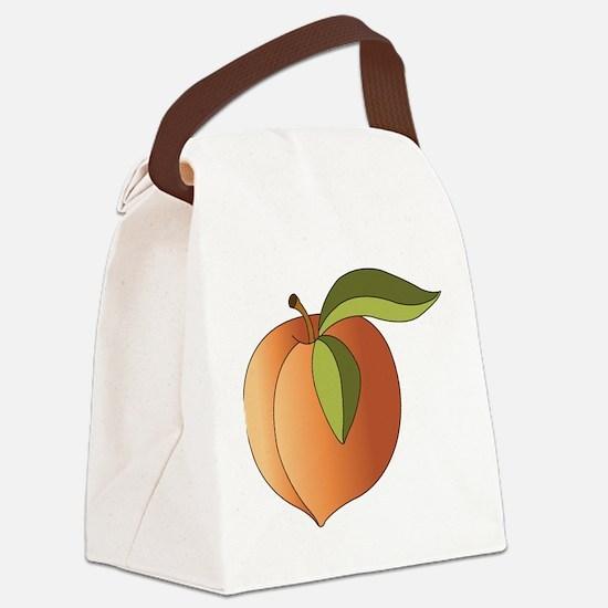 Peach Canvas Lunch Bag